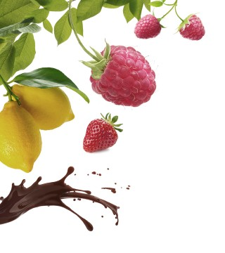 Maison Riviera Leaves Lemon Chocolate Raspberries Strawberry