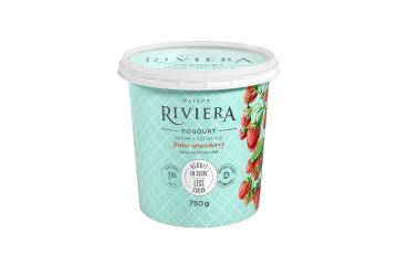 Maison Riviera Strawberry Less Sugar Set-Style Yogourt 750 g