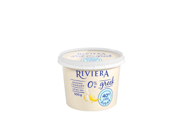 Maison Riviera Banana 40% Less Sugar 0% M.F. Greek Yogourt 500 g