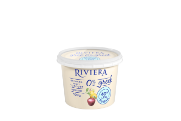 Maison Riviera Orchard Fruit No Sugar added 0% M.F. Greek Yogourt 500 g